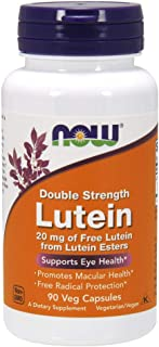 NOW Supplements, Lutein 20 mg with 20 mg of Free Lutein from Lutein Esters, 90 Veg Capsules