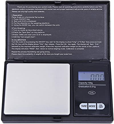 FY Home Precision Digital Scales 100g/0.01g LCD Digital Pocket Scale for Jewelry Gold Gram Balance Weight Scale (A)
