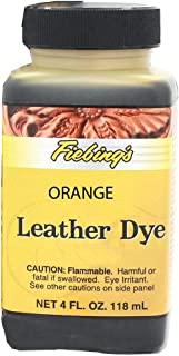 Fiebings - Leather Dye, Alcohol Based, 4 Fl. Oz. 118 Ml- 27 Colors Orange