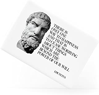 There is Only Way to Happiness Quote Epictetus Ancient Greek Philosopher Ceramic Fridge Magnet
