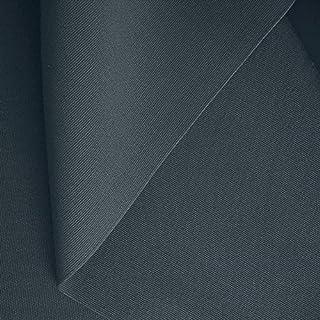 50cm klassischer Zelt-Stoff/Segeltuchstoff Meterware WASSERDICHT - Breite: 205cm aus 100% Baumwolle Dunkel-Grau