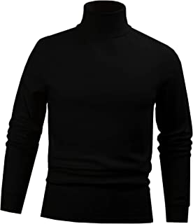 Men's Combed Cotton Euro Design Ski Casual Turtleneck