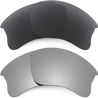 Replacement Lenses for Oakley Flak Jacket XLJ 2 Pair Combo Pack K001