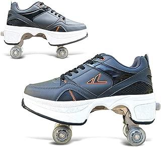 MLyzhe Deformaci/ón Rodillo Zapato Antideslizante con Cuatro Rueda Autom/ático Caminando Zapatos Invisible Respirable Suave Adecuado para Al Aire Libre Deportes Rodillo Zapatos,31