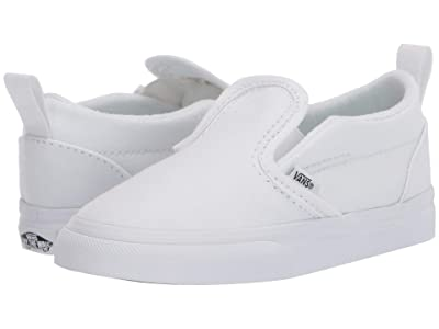 Vans Kids Slip-On V (Infant/Toddler) (True White/True White) Kids Shoes
