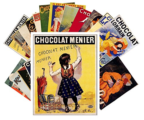 Postcard Set 24 cards Chocolate Vintage Poster Ads Adverts