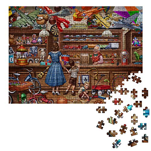 Jigsaw Puzzles,500 Piece Puzzles for Adults Kids,Game Puzzle, Car Animals Toy Store Puzzle