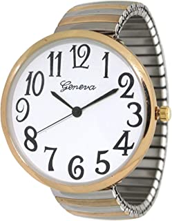 Geneva Super Large Stretch Watch Clear Number Easy Read...