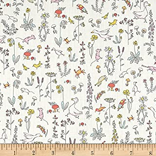 Liberty Fabrics 0512874 Contemporary Classic Tana Lawn Theo Cream Fabric by the Yard