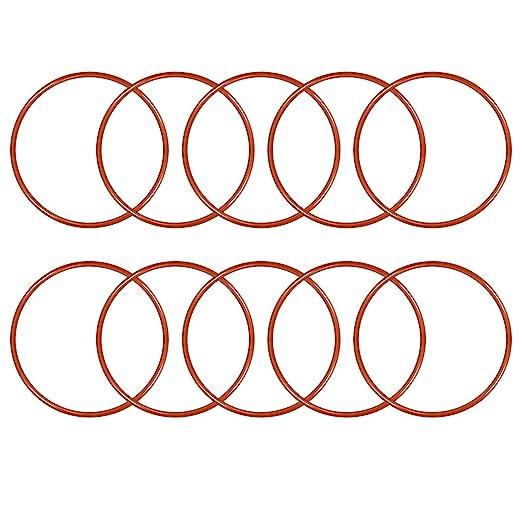Seal Gasket Green 5Pcs 45mm OD Fluorine Rubber O Rings 41.2mm ID 1.9mm Width