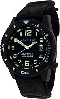 Momentum Men Dive Series Quartz Sports Watch - M50 Series | Water Resistant, Easy to Read Dial, Date, Screw Crown, Stainless Steel Case