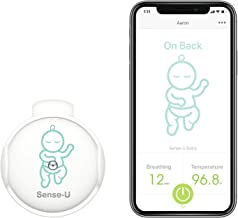 (2020 New Model) Sense-U Baby Monitor with Breathing Rollover Movement Body Temperature Sensors: Track Your Baby's Breathing, Rollover, Body Temperature with New Clasp Design (Body Temperature)