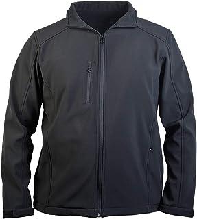 Great South Men's Softshell Jacket Font-Zip Fleece-Lined Windproof Outerwear 600M
