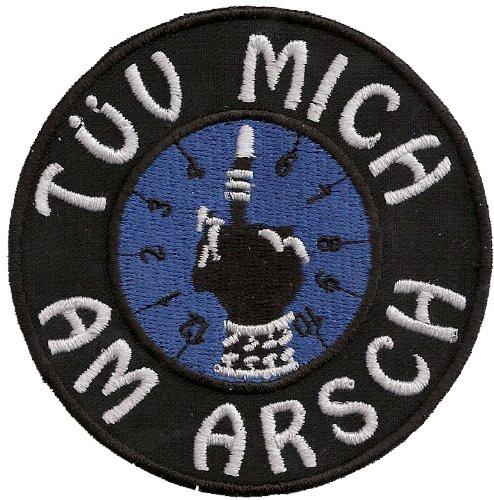 Biker Aufnäher Patch T-Ü-V Mich am Arsch- Plakette - Kult - Fun