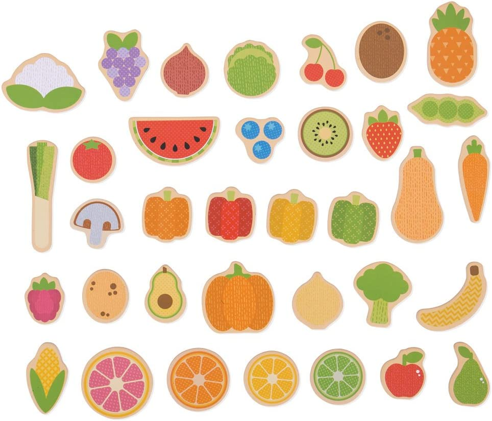 Bigjigs Toys Fruit Year-end annual account Magnets and Veg Ranking TOP5