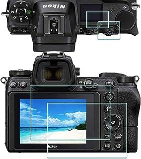 Z6 Z7 Toppskärmskydd för Nikon Z7/Z6 kamera [2+2Pack], ULBTER 0,3 mm 9H hårdhet ultraklart härdat glas lim anti-skrapa ant...