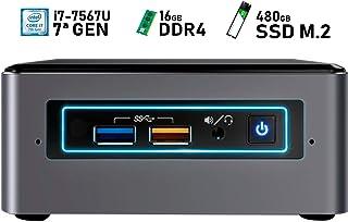 Intel NUC i7-7567U + 16GB DDR4 + 480GB SSD M.2 + Windows 10 Pro ESPAÑOL   Mini PC - NUC7I7BNH