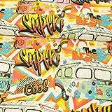 Dekostoff 1970s Autobus Hippie Style Canvas Stoffe - Preis