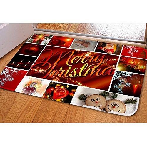 Hugsidea mignon pour chien ou chat Flanelle douce avant Paillasson de Noël Home Decor Moderne Merry Christmas 1