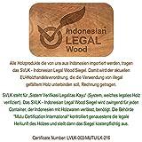 DIVERO Großer ovaler ausziehbarer Gartentisch Esstisch Balkontisch Holz Teak Tisch für Terrasse Balkon Wintergarten - 5