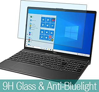 Synvy Anti Blue Light Tempered Glass Screen Protector for FUJITSU FMV LIFEBOOK AH-X / D3 FMVAXD3B 15.6 Visible Area 9H Protective Screen Film Protectors