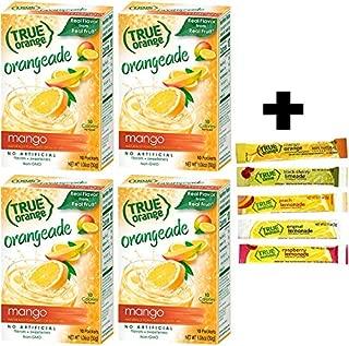 True Mango Orange Drink Mix, 10-count (Pack of 4) with 5 FREE Lemonade Sample Sticks