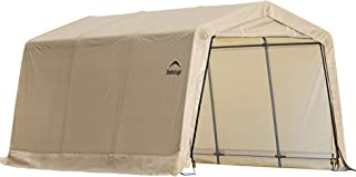 ShelterLogic 10` x 15` x 8` All-Steel Metal Frame Peak Style Roof Instant Garage and AutoShelter with Waterproof and UV-Treated Ripstop Cover