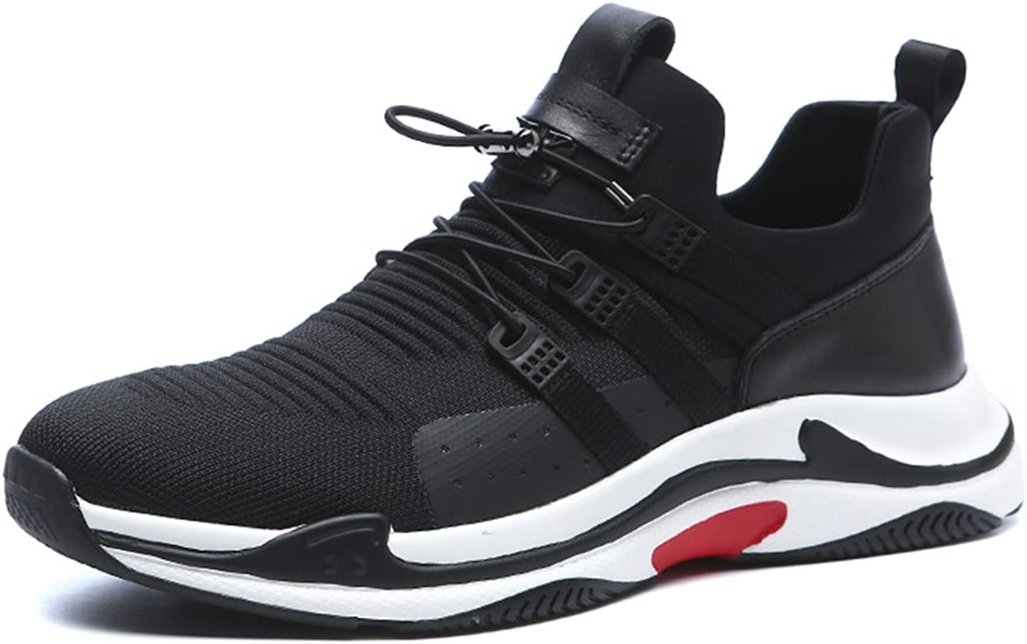 Amazn Men's shoes, Men's shoes Tulle Spring Fall Fashion Boots Sneakers Casual Travel Lace-up for Athletic Casual Running shoes Black,shoes