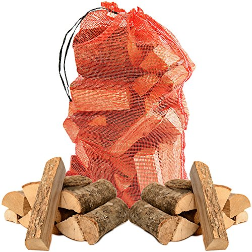 Hardwood Ash Kiln Dried Wooden Logs Coal Alternative Fuel for Hotter Burning Fires. Firepits. Only 20% Moisture Comes with The Log Hut Woven Sack.