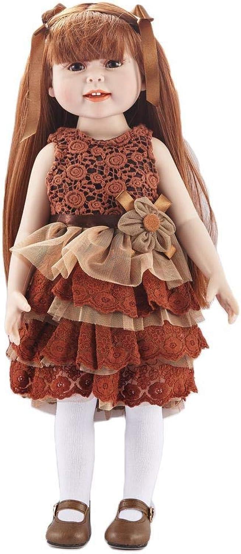 Hongge Reborn Baby Doll,Lebensechte silikonpuppe Baby Reborn Puppe Kind Spielzeug Geschenk 45cm