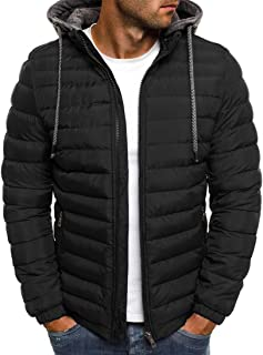 Men Puffer Jacket Men Hoodie Autumn and Winter Warmth Ski Camping Outdoor Sports and Leisure Long Sleeve Fashion Zipper Po...