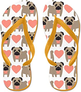 Pugs and Hearts Beach Sandals