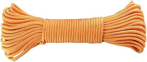 Nylon Handcraft Braid 4mm x 65 Feet for Crafting, Survival, General Use - Orange