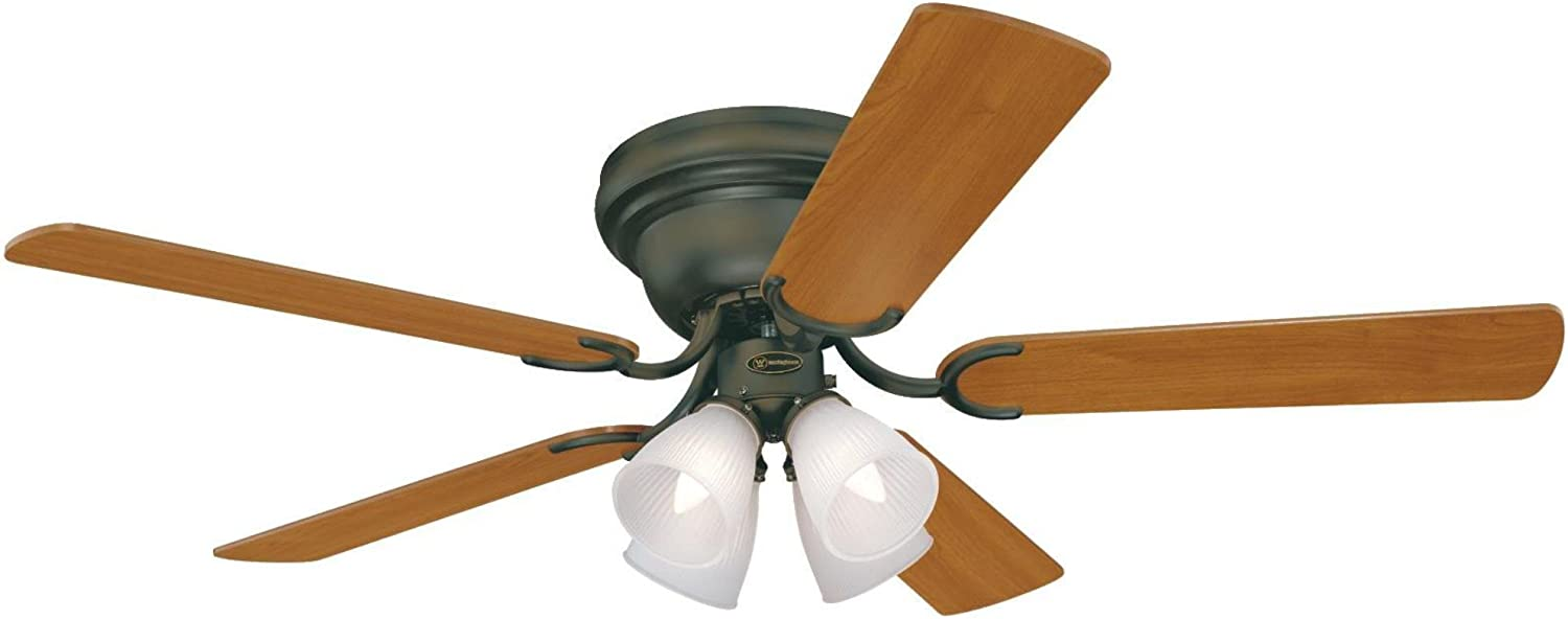 Westinghouse Lighting 7216200 Contempra IV 52-Inch Oil Rubbed Bronze Indoor Ceiling Fan, Light Kit with Frosted Ribbed Glass, Includes Bulbs