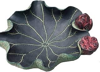 GAOTING Ashtray/can accommodate versatile, lotus ashtray (Color : Green)