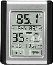 manswill electrónico higrómetro y termómetro, de alto de baja doble pantalla táctil digital hygroth ermograph, comodidad en húmedo y seco meteorológica supervisión prueba de Tool para interiores Casa