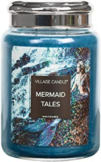21.25 Net oz Candela Village Candle Coffee Bean 26 oz Large Glass Jar Scented Candle Marrone