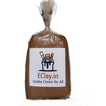 Teracotta Clay by EClay, Ready to use, Eco Friendly, Best for Sculpturing, Pottery, Jewellery Making and Arts and Crafts (Approximately 1 KG)