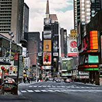 GladsBuy Urban Road 8' x 8'コンピュータ印刷写真バックドロップCity Streetsテーマ背景dt-lp-0183