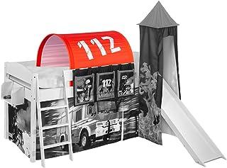 Lilokids Tunnel pompiers pour lit mezzanine, lit de jeu et lit superposé