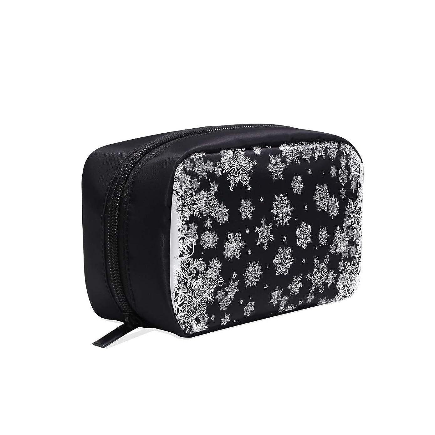 失業者天使だますGGSXD メイクポーチ 雪の花 ボックス コスメ収納 化粧品収納ケース 大容量 収納 化粧品入れ 化粧バッグ 旅行用 メイクブラシバッグ 化粧箱 持ち運び便利 プロ用