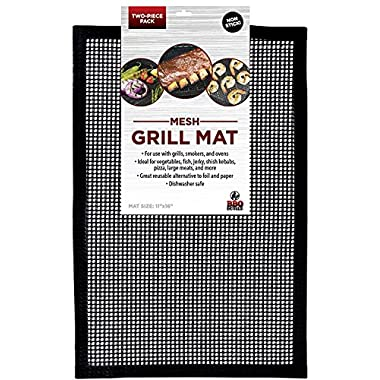 Grill Mat BBQ Tool - Mesh Grill Mat That Allows Smoke to Pass Through - Non-Stick - Perfect For Grills, Smokers and Ovens