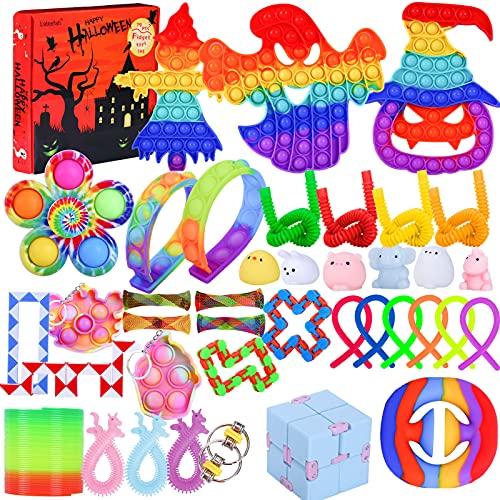 39 Pack Pop Fidget Packs, Halloween Fidget Pack Cheap, Stress Relief Toy Set, Simple Dimple Fidget...