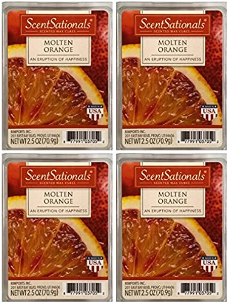 ScentSationals Molten Orange Wax Cubes 4 Pack