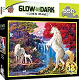 MasterPieces Hidden Images Glow in The Dark Jigsaw Puzzle, Dream World, Unicorns, Featuring Art by Steve Read, 550 Pieces