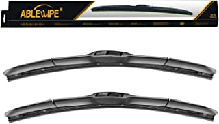 "ABLEWIPE Windshield wiper blades Hybrid Bracketless Beam wiper 26"" + 18"" Car Front Window Windshield wiper blades U J-hook..."