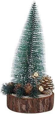 YukeShop - 1 mini albero di Natale da tavolo, alto circa 22 cm, adatto per la casa e la vetrina