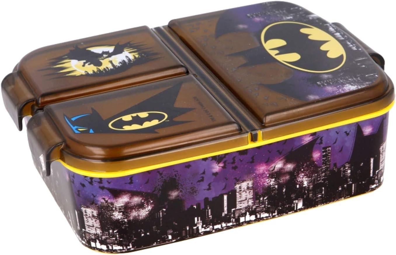 Fiambrera para niños / fiambrera / fiambrera a elegir: Frozen PJ Masks Spiderman Avengers - Mickey - Paw de plástico sin BPA - Gran regalo para niños (Batman)