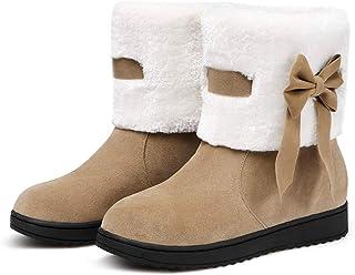 4edf2fcb14a Perfues Women s Winter Snow Boots Platform Ankle Boot Warm Cotton Down  Shoes Apricot 4