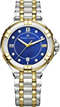 Maurice Lacroix Women's Aikon 35mm Mother of Pearl Watch   Royal Blue/Silver/Gold